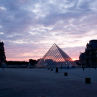 The Louvre at sun set